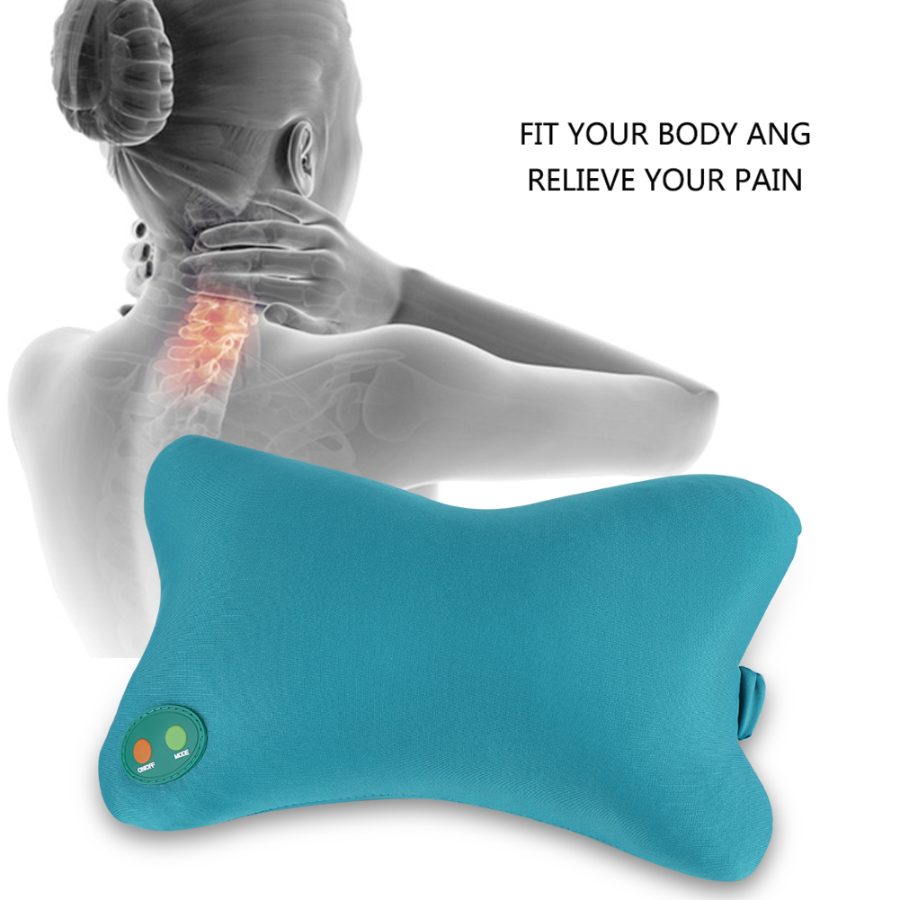 electric soft pillow vibration neck back home car kneading massager pain relief car neck pillow soft massage pillow