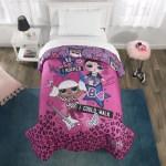 L O L Surprise Microfiber Comforter Kids Bedding Pink Purple Twin Full Walmart Com Walmart Com