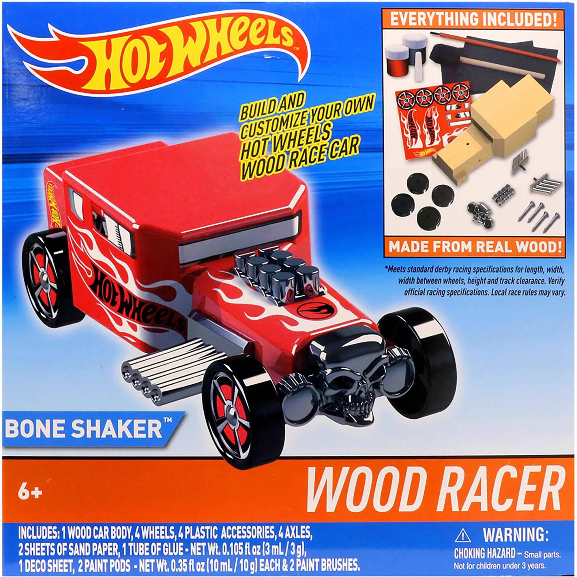 hot wheels wood racers bone shaker walmart com
