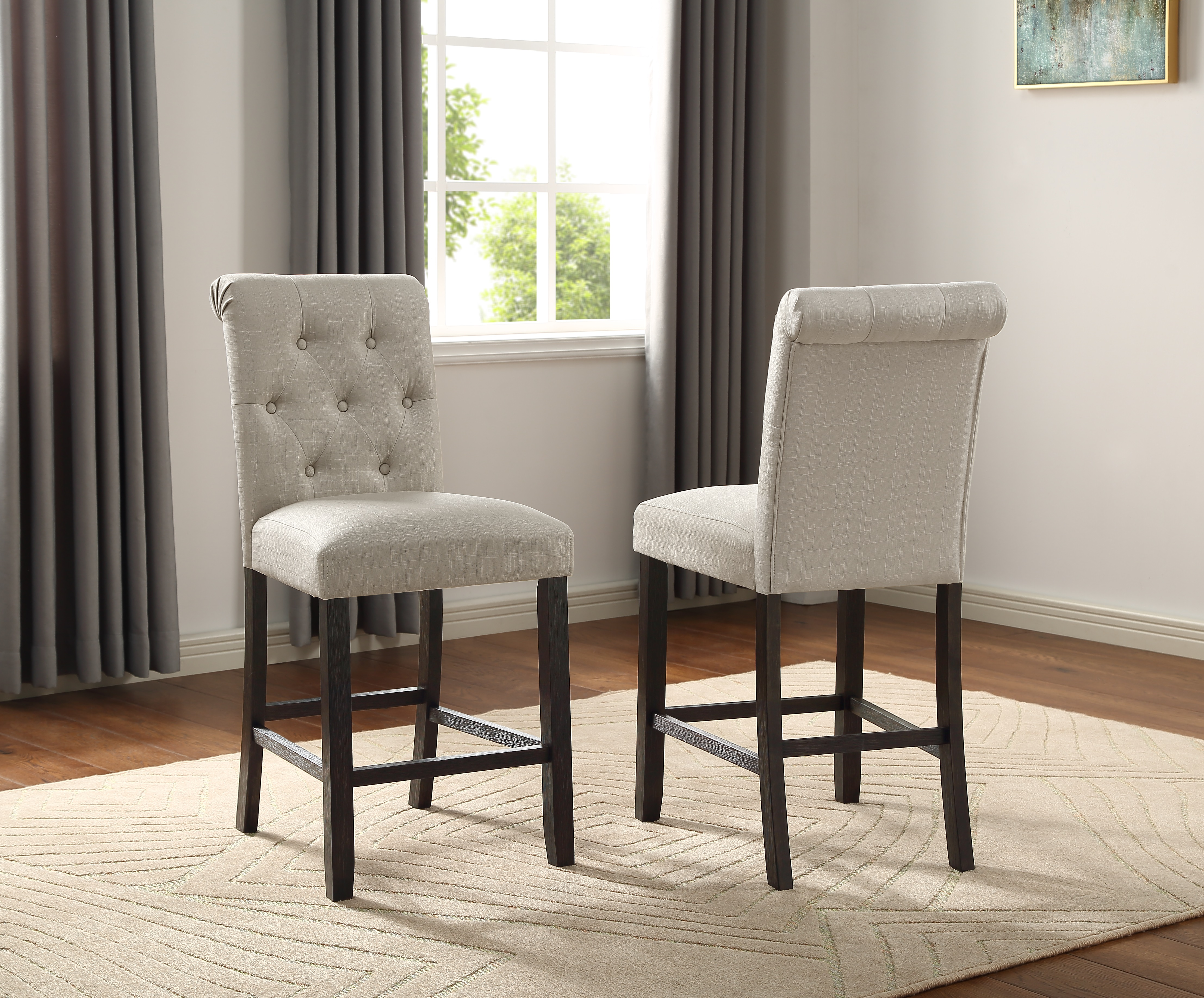 Use the landon dining chair for a sleek modern farmhouse charm in your kitchen or dining room. Leviton Solid Wood Tufted Asons Counter Height Dining ...