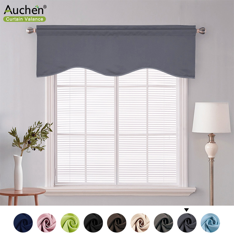 auchen minimalism solid color window curtain valance ultra elegant solid color short curtain valance modern style valances pocket valances for