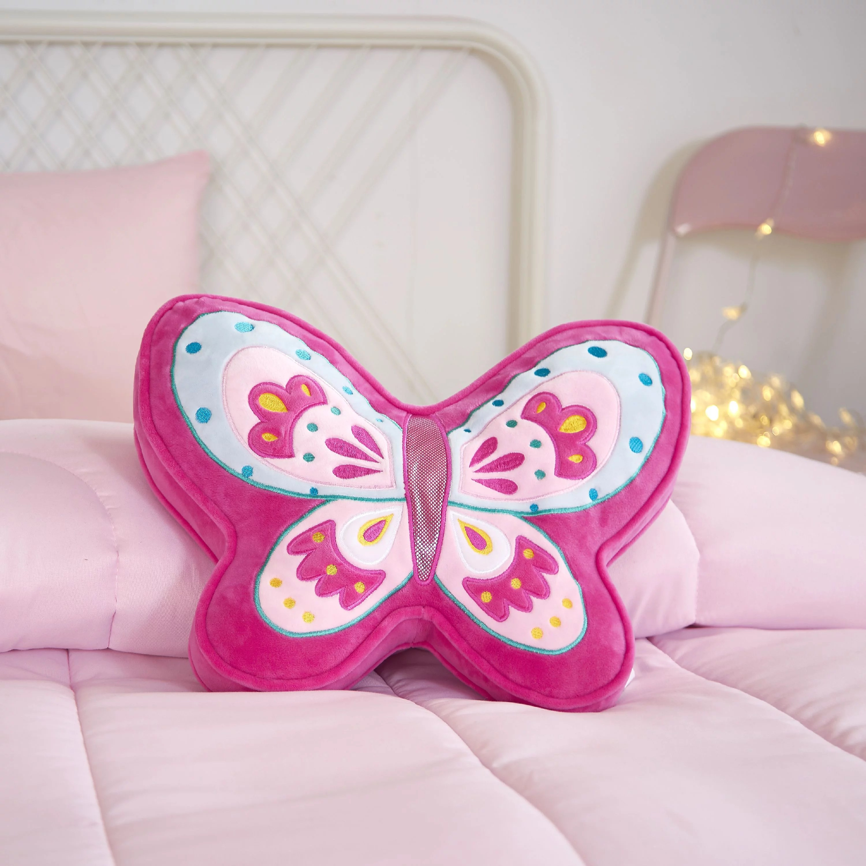 butterfly 3d decorative pillow for kids by your zone