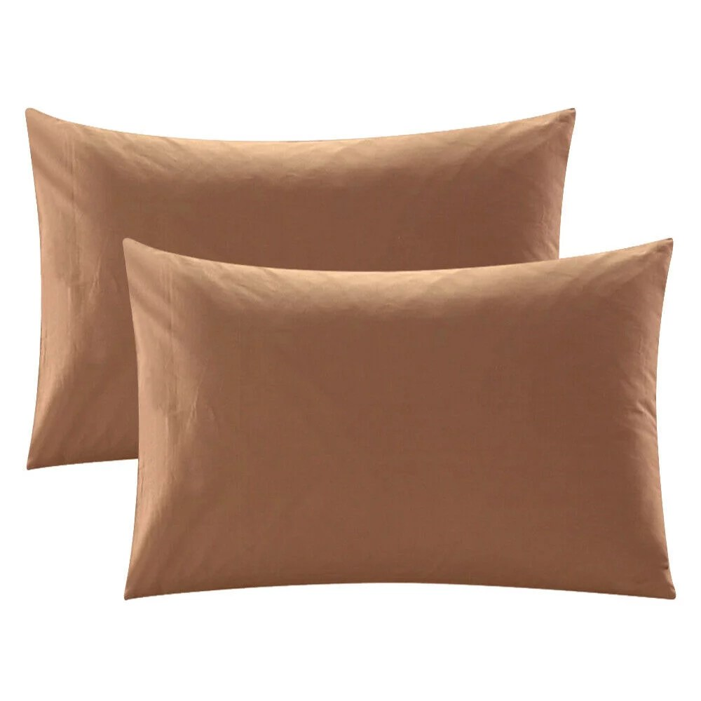 pillowcase set of 2 pillow cases soft cotton bed pillow covers standard queen king size