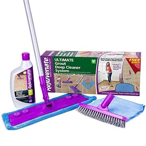 rejuvenate deep cleaner and grout brush system acid free rj24dckit