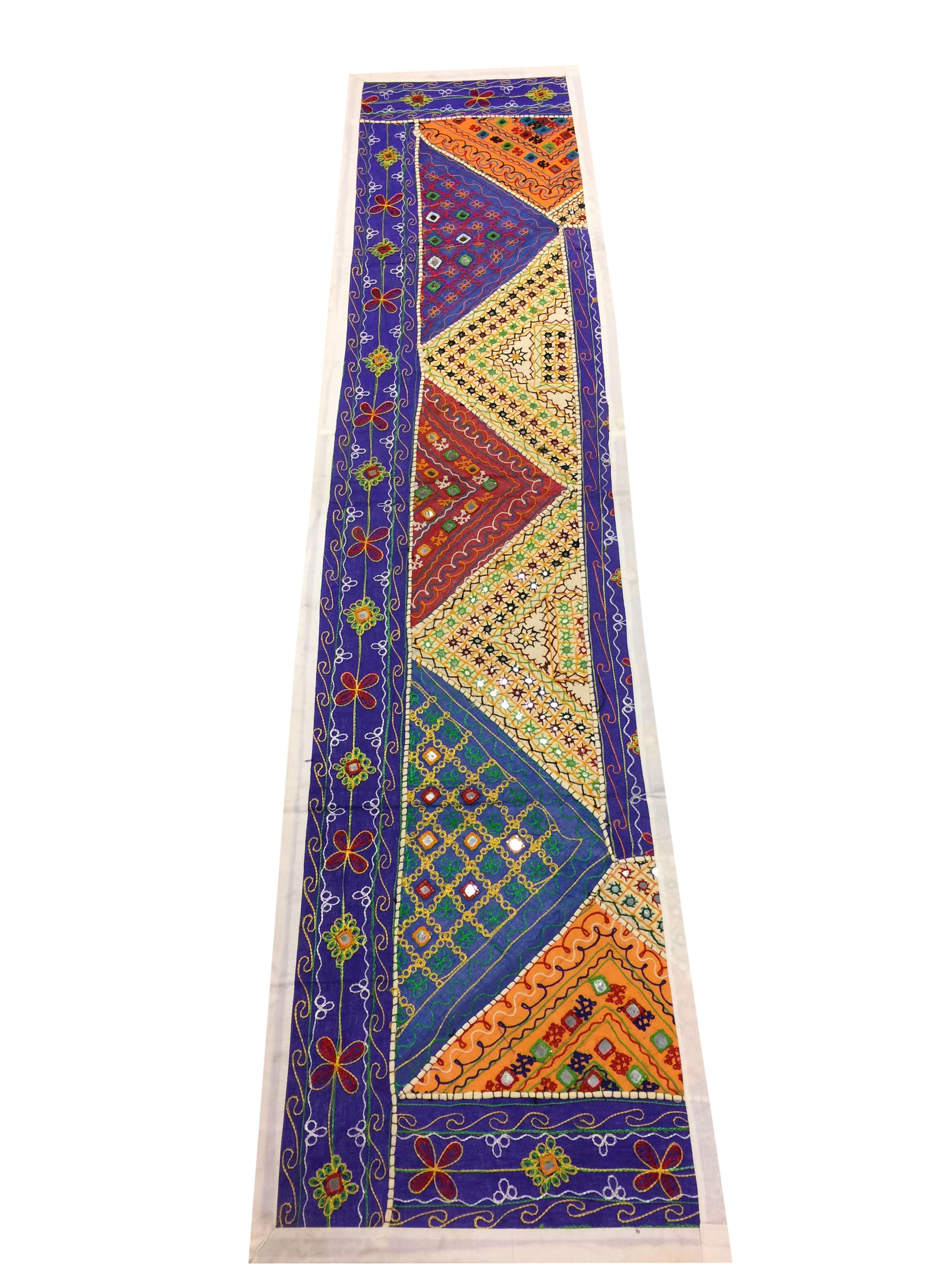 Bohemian Indian Beaded Embroidered Vintage Table Runner