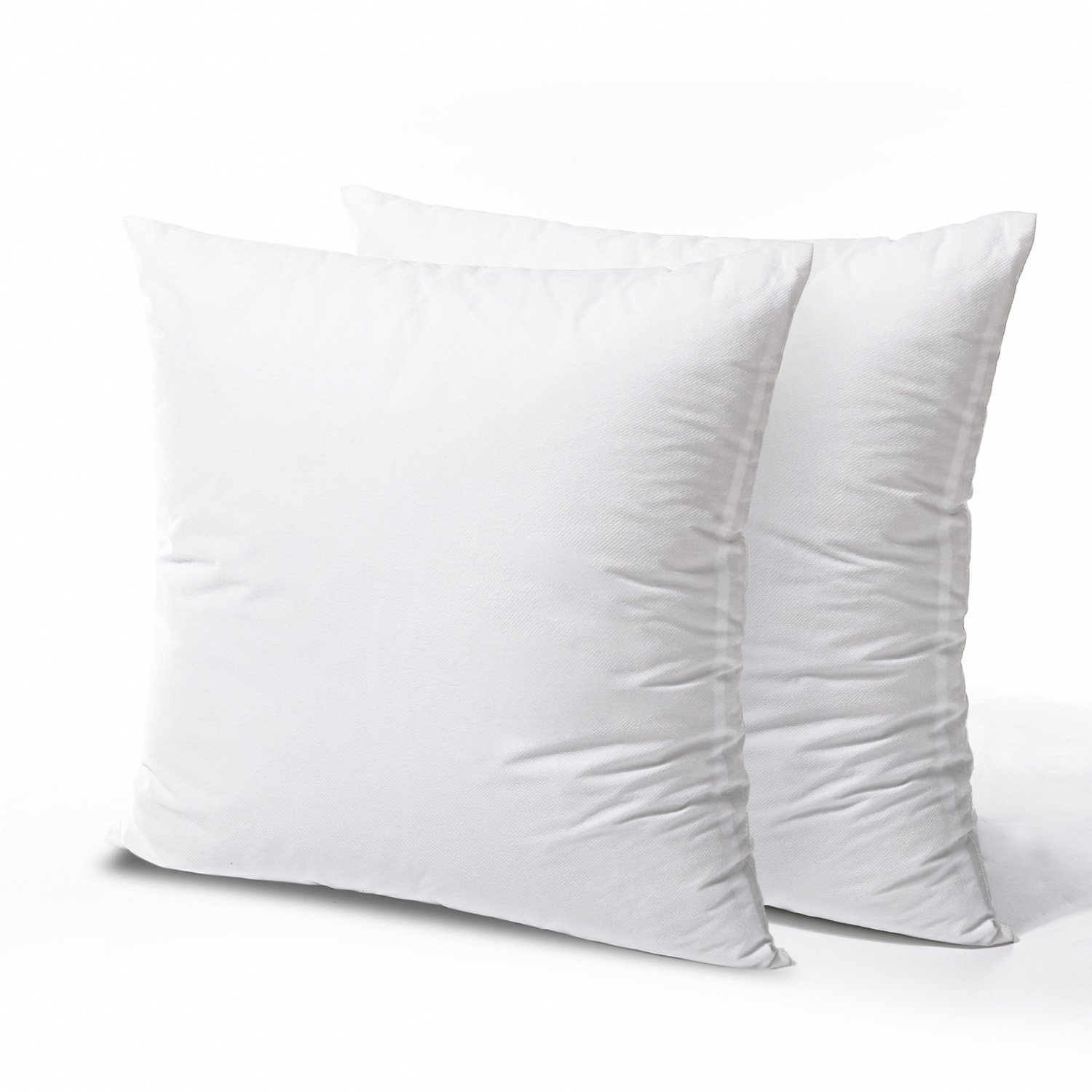 phantoscope hypoallergenic square form decorative throw pillow insert couch sham cusion stuffer 22 x 22 2 pack
