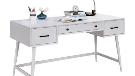 Furniture Of America Landers Mid Century Modern Writing Desk Walmart Com Walmart Com