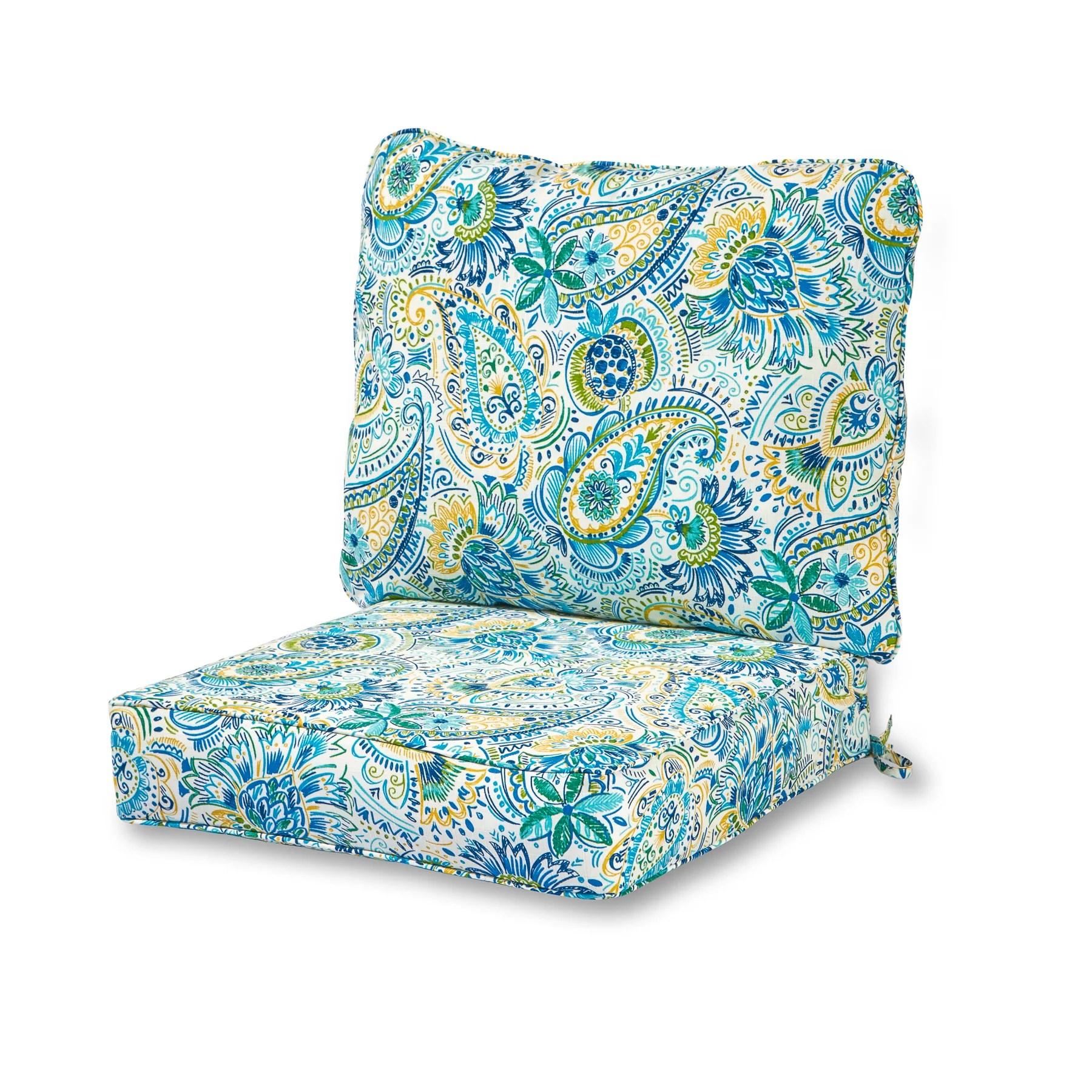greendale home fashions outdoor 2 piece deep seat cushion set baltic paisley