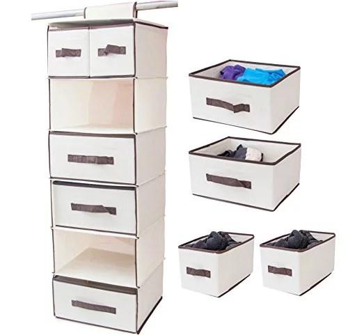 Lovotex 6 Shelf Foldable Closet Hanging, Space Saver ... on Closet Space Savers Walmart  id=40166