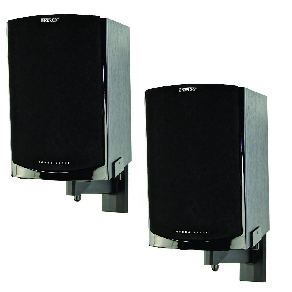 pinpoint mounts am41b side clamping bookshelf speaker wall mount