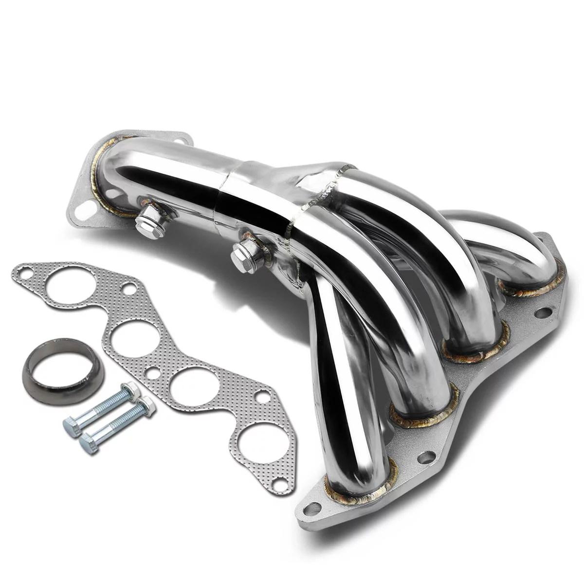 for 2001 to 2005 honda civic 4 1 design stainless steel exhaust header kit 7 gen em es d17a1 engine 02 03 04