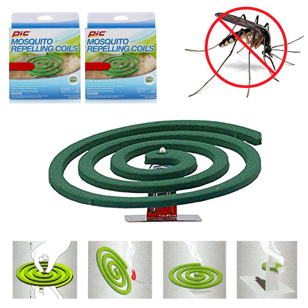 2 pks mosquito repellent 8 coils outdoor use skin protection insect bite sting