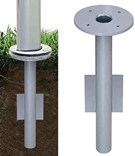 eliteshade 9 5 lbs in ground umbrella base stand mount for patio umbrella outdoor umbrella offset hanging umbrella cantilever umbrella
