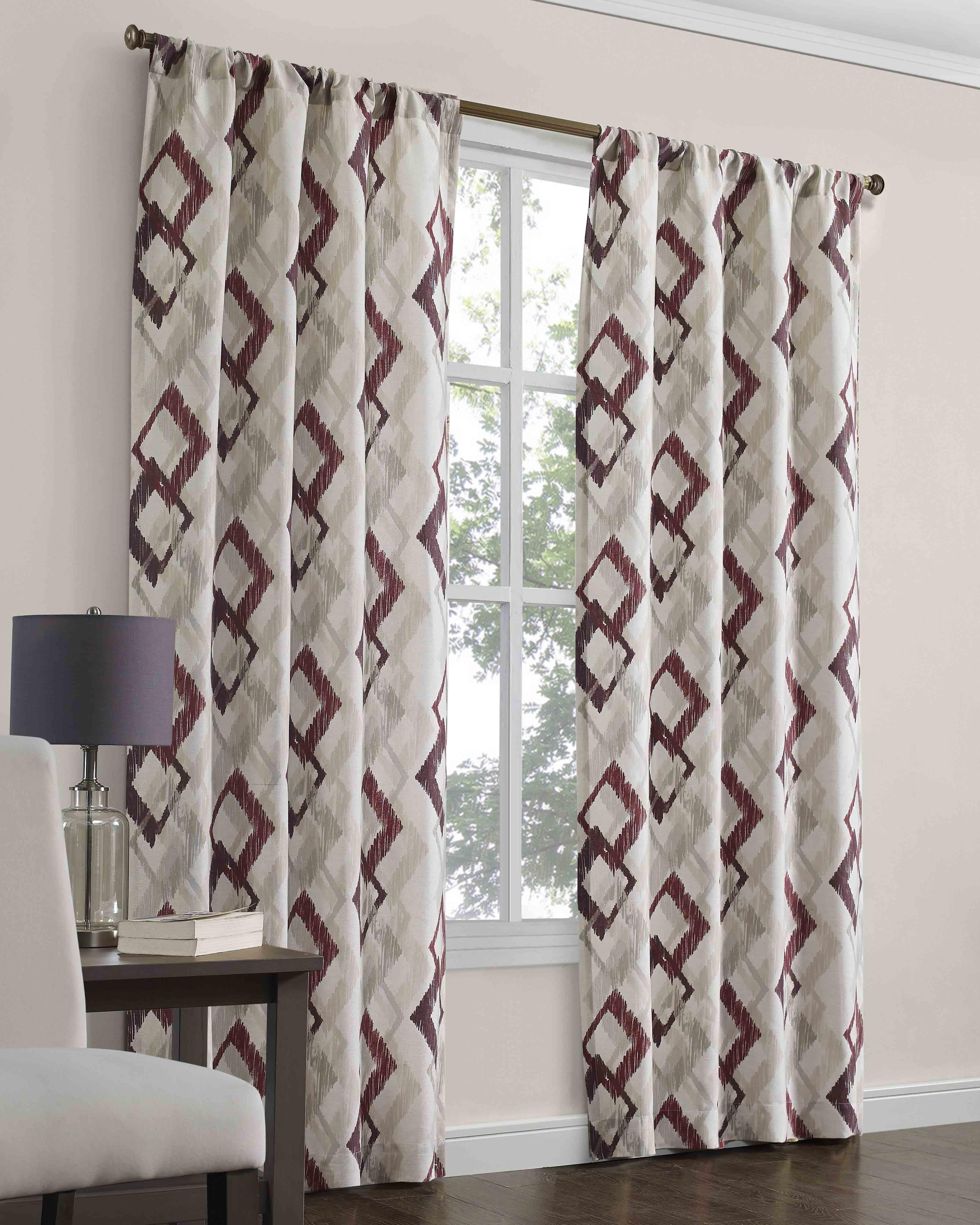 mainstays lorena curtain panel pair 40 x 84