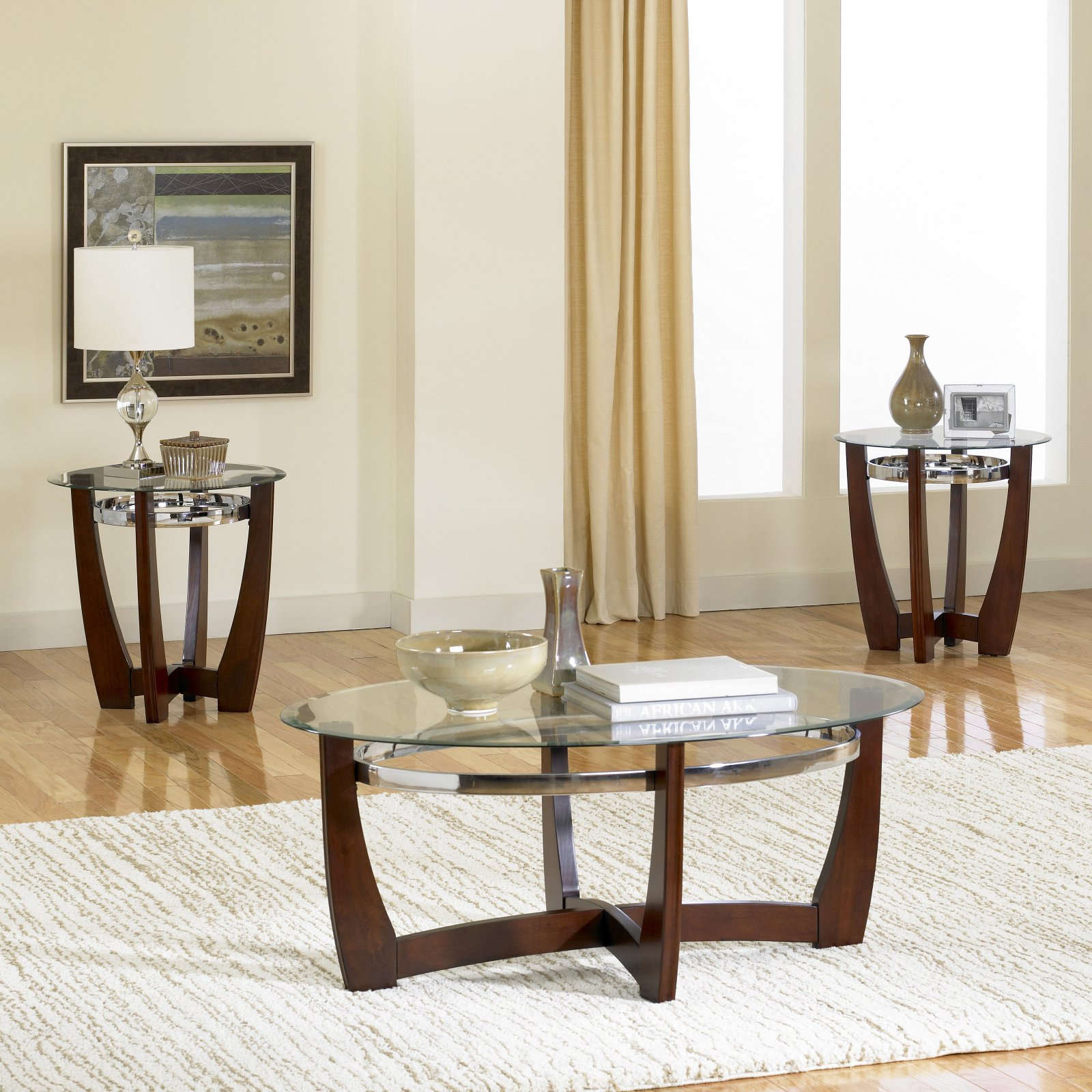 standard furniture apollo oval coffee table with 2 end tables walmart com