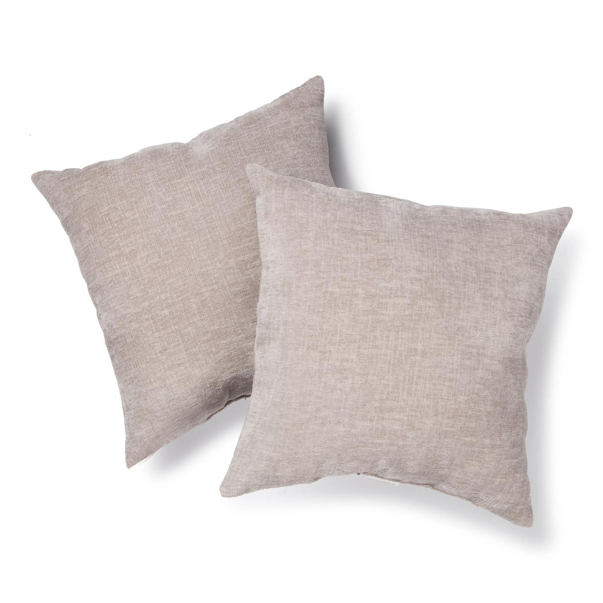 mainstays chenille decorative throw pillow 18 x 18 aqua ocean two pack