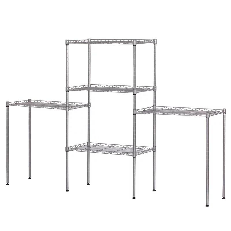 ubesgoo new 5 tier wire shelving rack adjustable shelf storage unit heavy duty silver