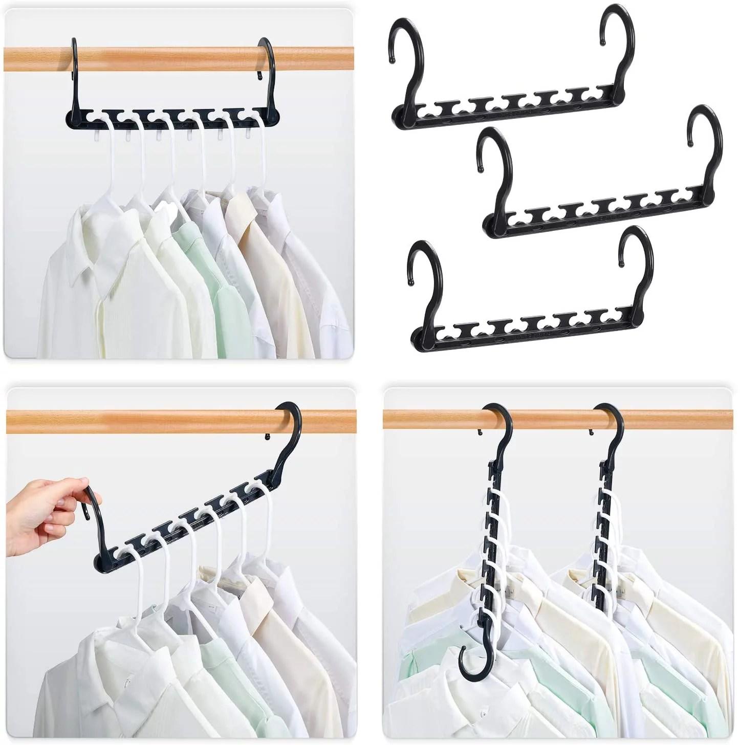 HOUSE DAY Sturdy Plastic Space Saving Hangers Cascading ... on Closet Space Savers Walmart  id=12218