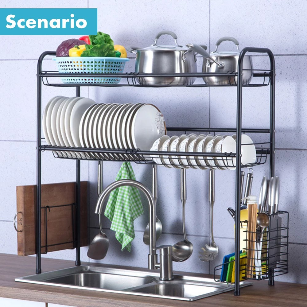 dish rack over sink dish drying rack kitchen stainless steel over the sink shelf storage rack