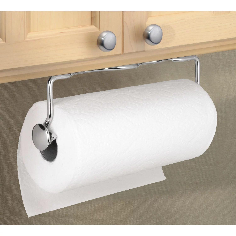 interdesign paper towel holder awavio wall mount for kitchen chrome