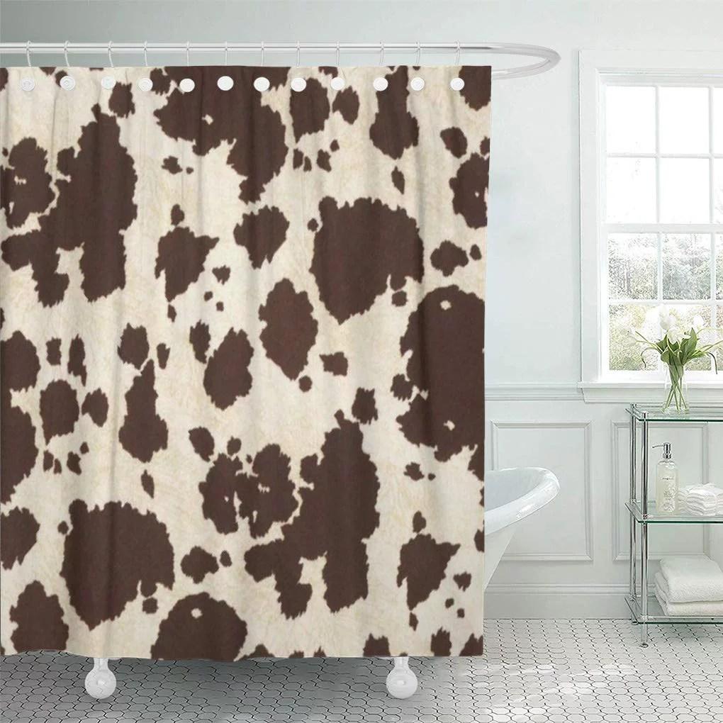 cynlon brown western cowhide cowboy white bathroom decor bath shower curtain 60x72 inch walmart com