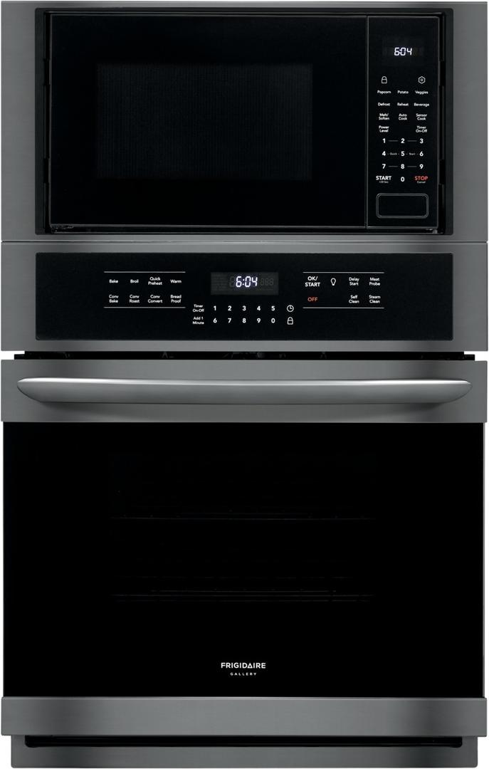 frigidaire fgmc2766ud 27 gallery series electric microwave wall oven microwave combination with true convection effortless temperature probe and