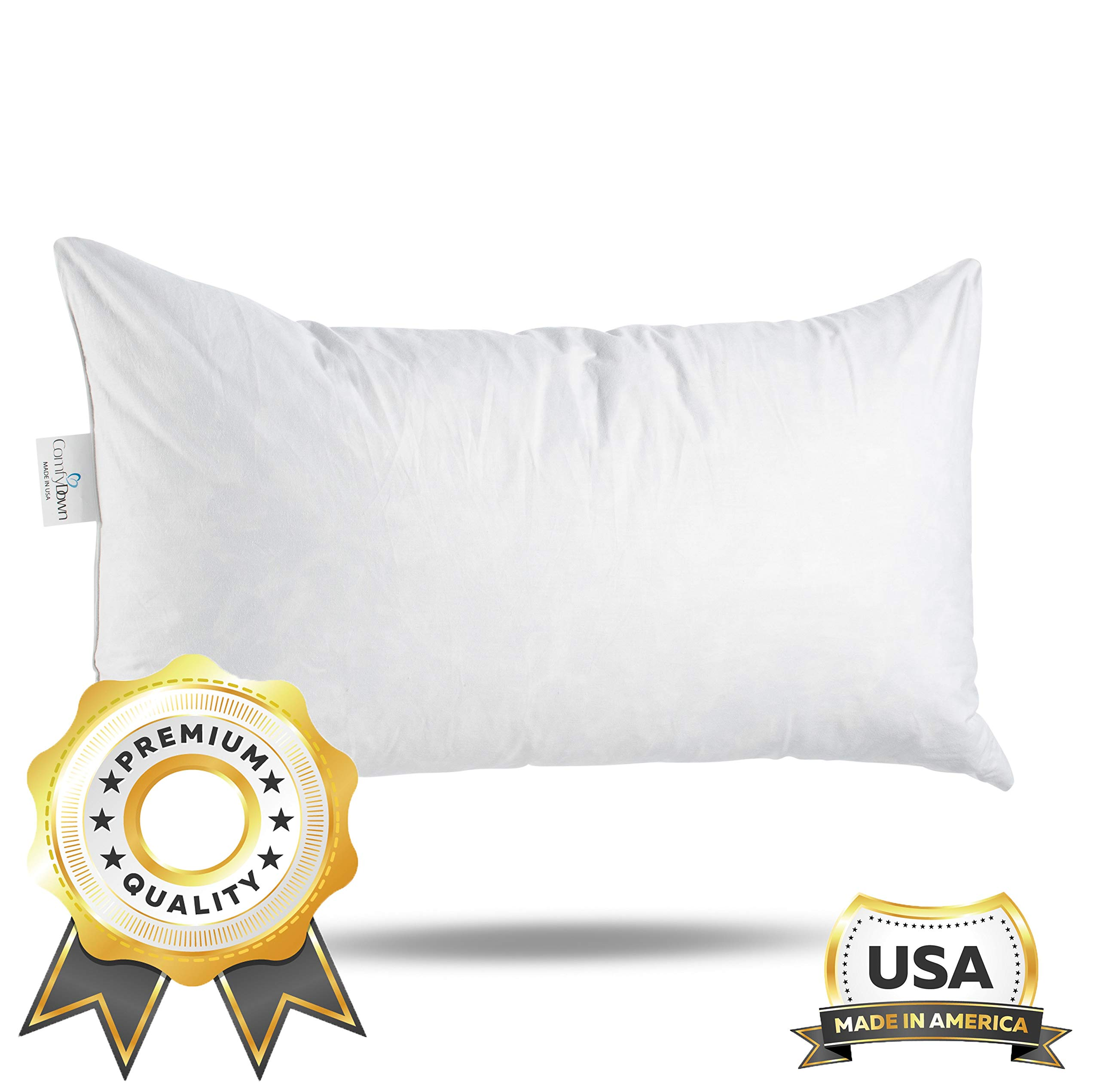 comfydown 95 feather 5 down 12 x 18 rectangle decorative pillow insert sham stuffer made in usa walmart com