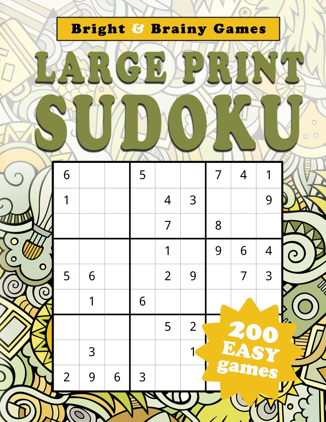 Large Print Sudoku 200 Easy Sukodu Puzzles For Seniors