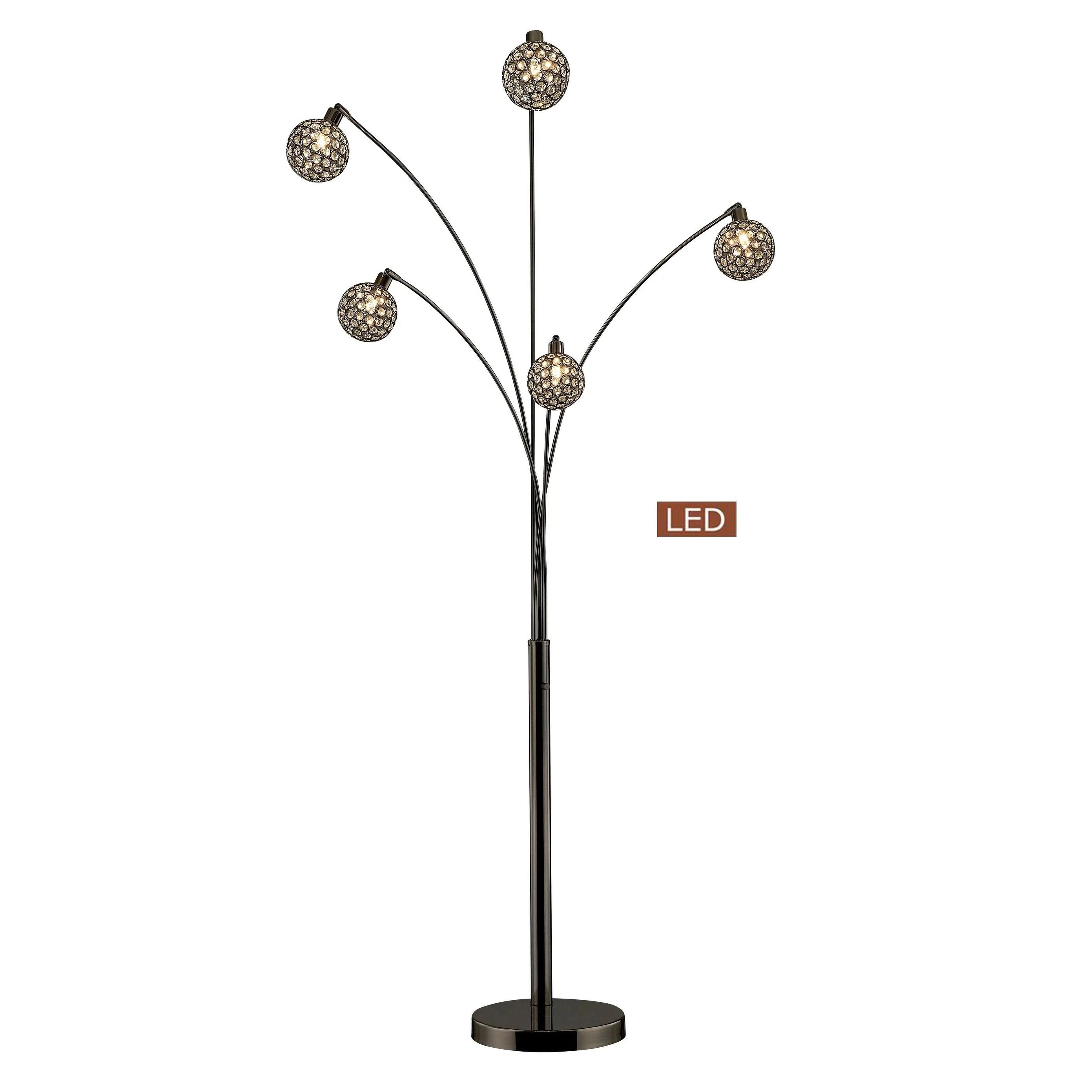 Artiva Manhattan Quan 84 Crystal Led Arch Floor Lamp
