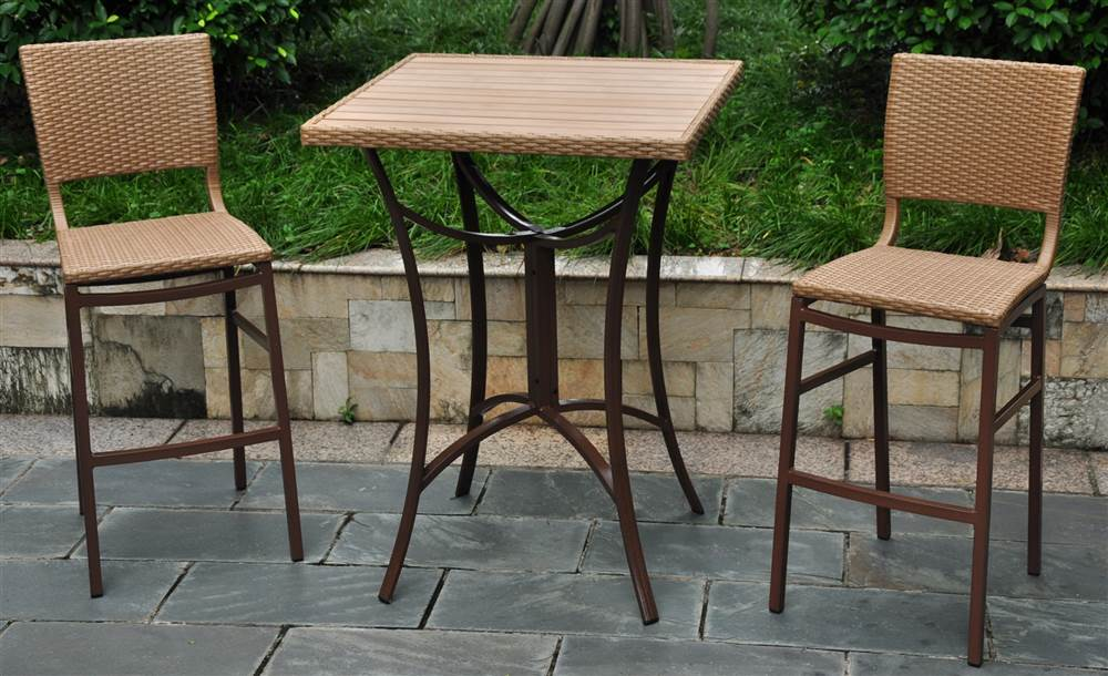 3 pc bar height bistro patio set