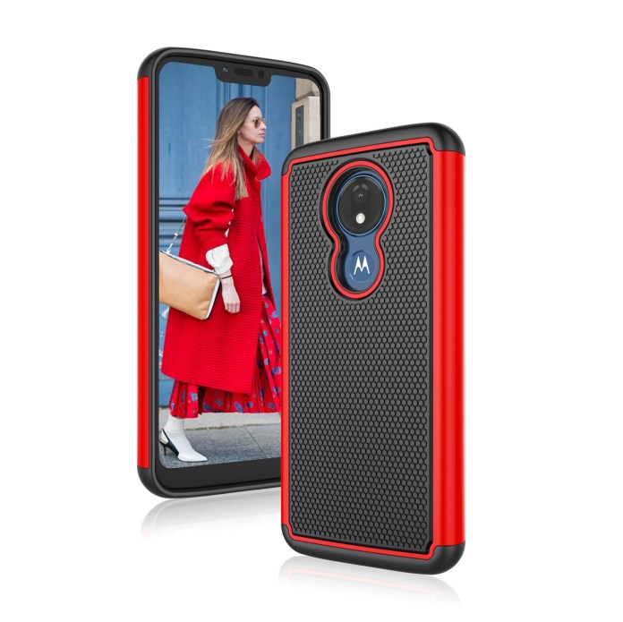 Motorola Moto G7 Power Case Phone Cases For Moto G7 Supra Njjex Shock Absorption Dual Layer Heavy Duty Protective Silicone Plastic Cover Rugged Case For Moto G 7th Gen Power Xt1955 2019