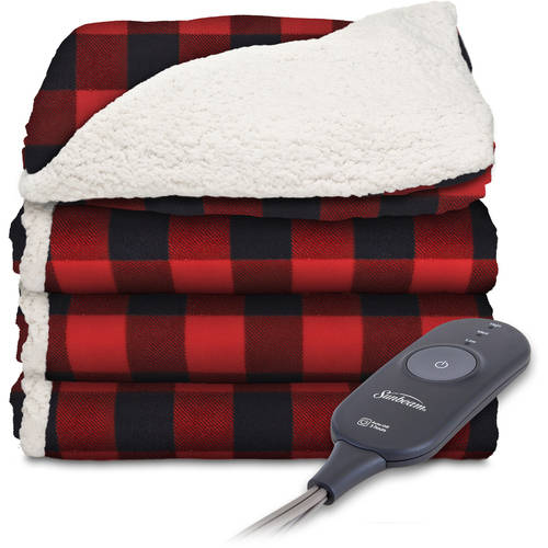 Sunbeam Sherpa To Microplush 60 X 50 Electric Heated Throw Blanket 1 Each Walmart Com Walmart Com