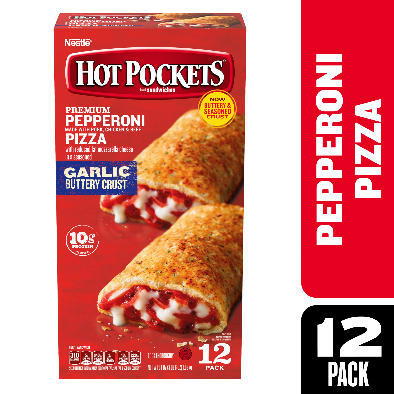 hot pockets pepperoni pizza frozen sandwiches 54 oz walmart com