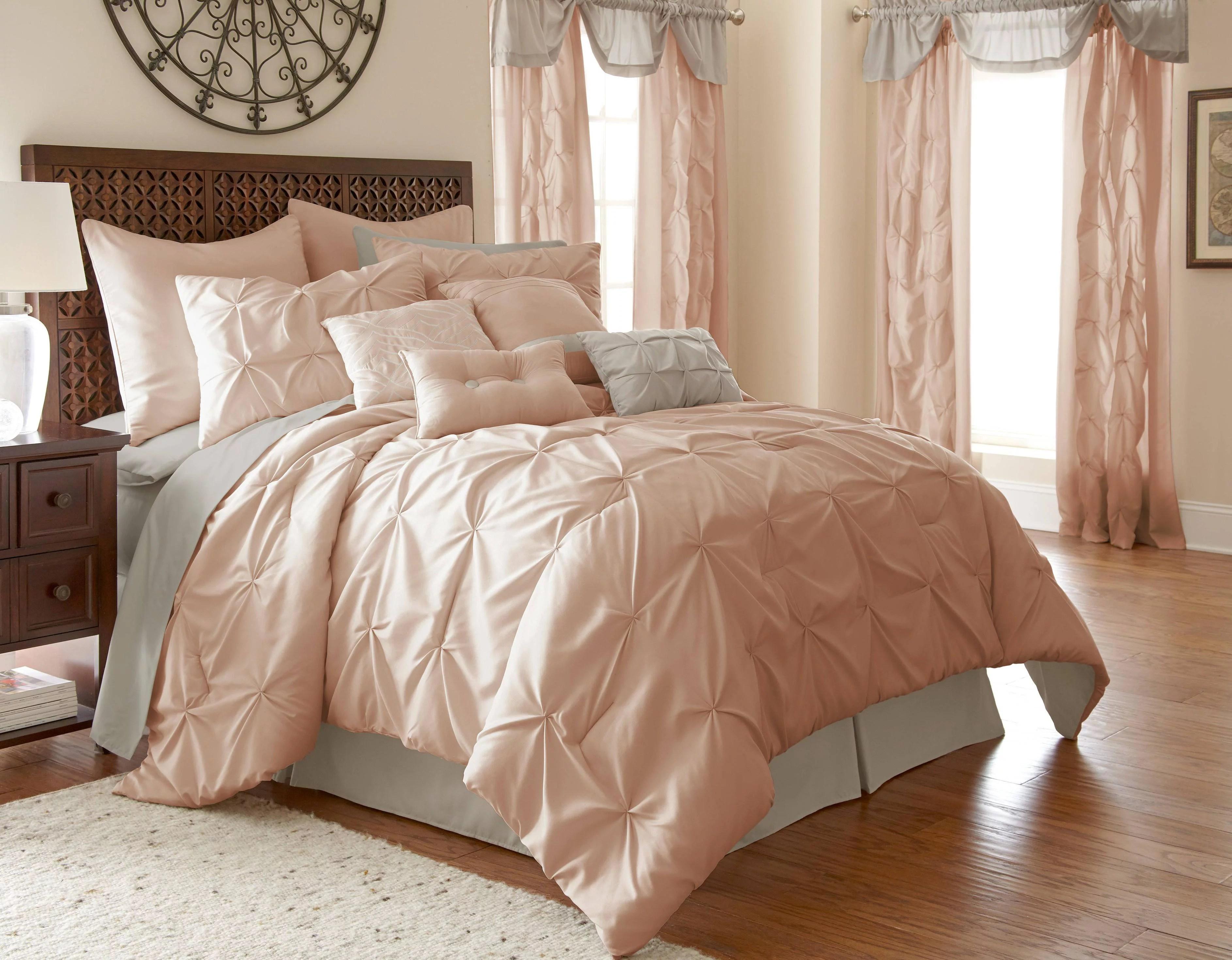 24 piece comforter set ella blush king