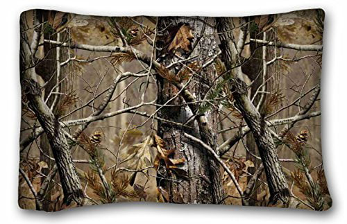 rylablue realtree camo pillow cases covers standard size pillowcase size 20x30 inches two sided print