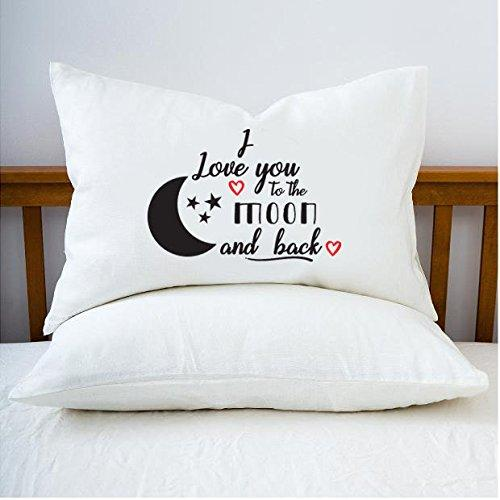 i love you to the moon and back pillow case walmart com