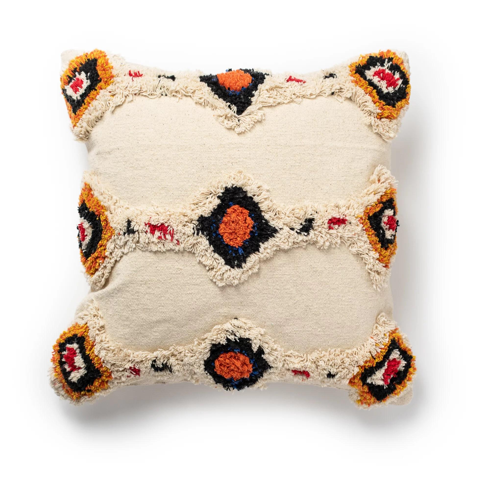 better homes gardens abstract diamonds tufted shag throw pillow 18 x18 1pc walmart com