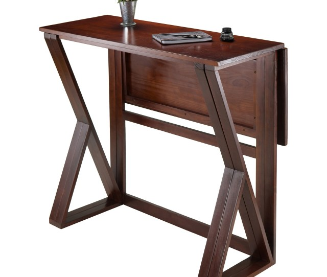 Harrington Drop Leaf High Table Walnut