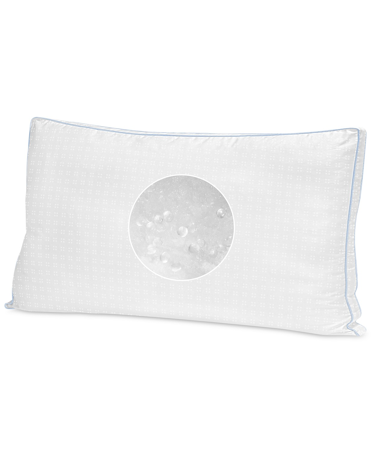 sensorgel cool fusion medium density king size bed pillow with cooling gel beads white walmart com