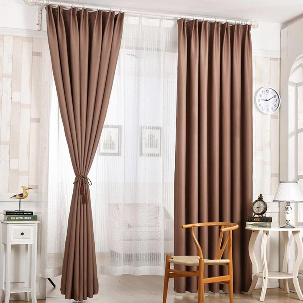 topincn rideau d occultation blackout de couleur unie solide de porte pour decoration de chambre a coucher drape d occultation rideau de fenetre