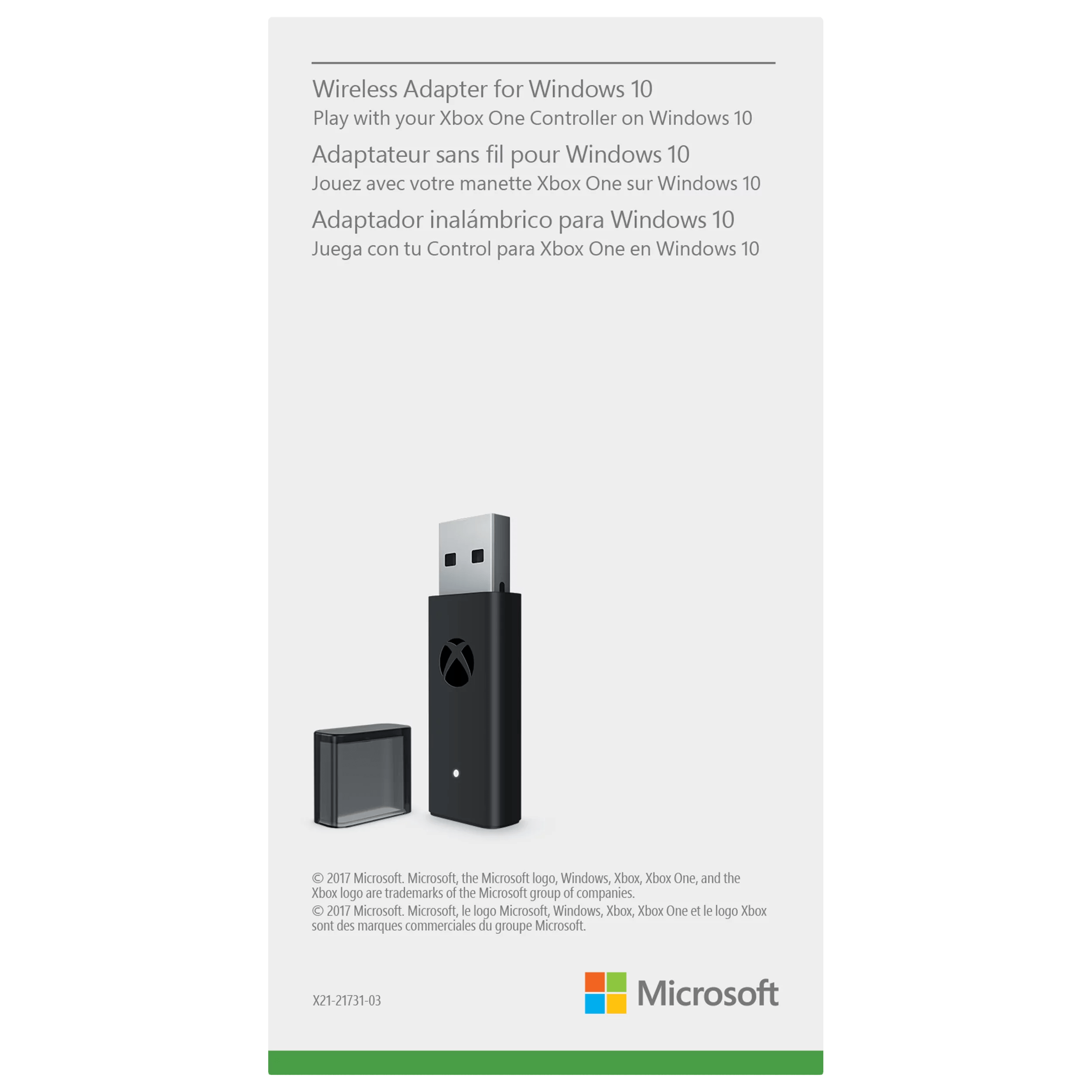 microsoft xbox one wireless controller adapter for windows