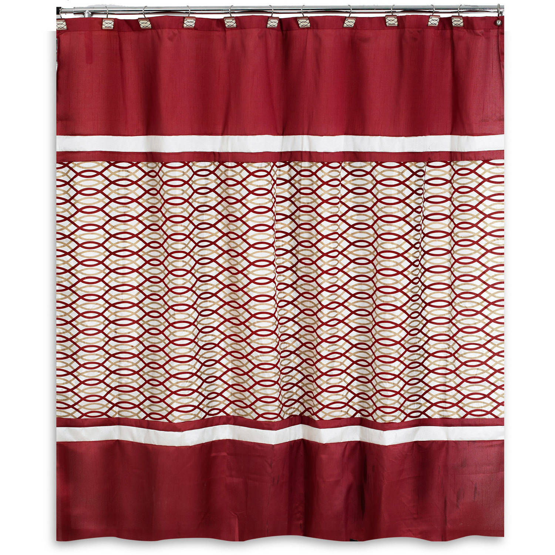 harmon burgundy shower curtain