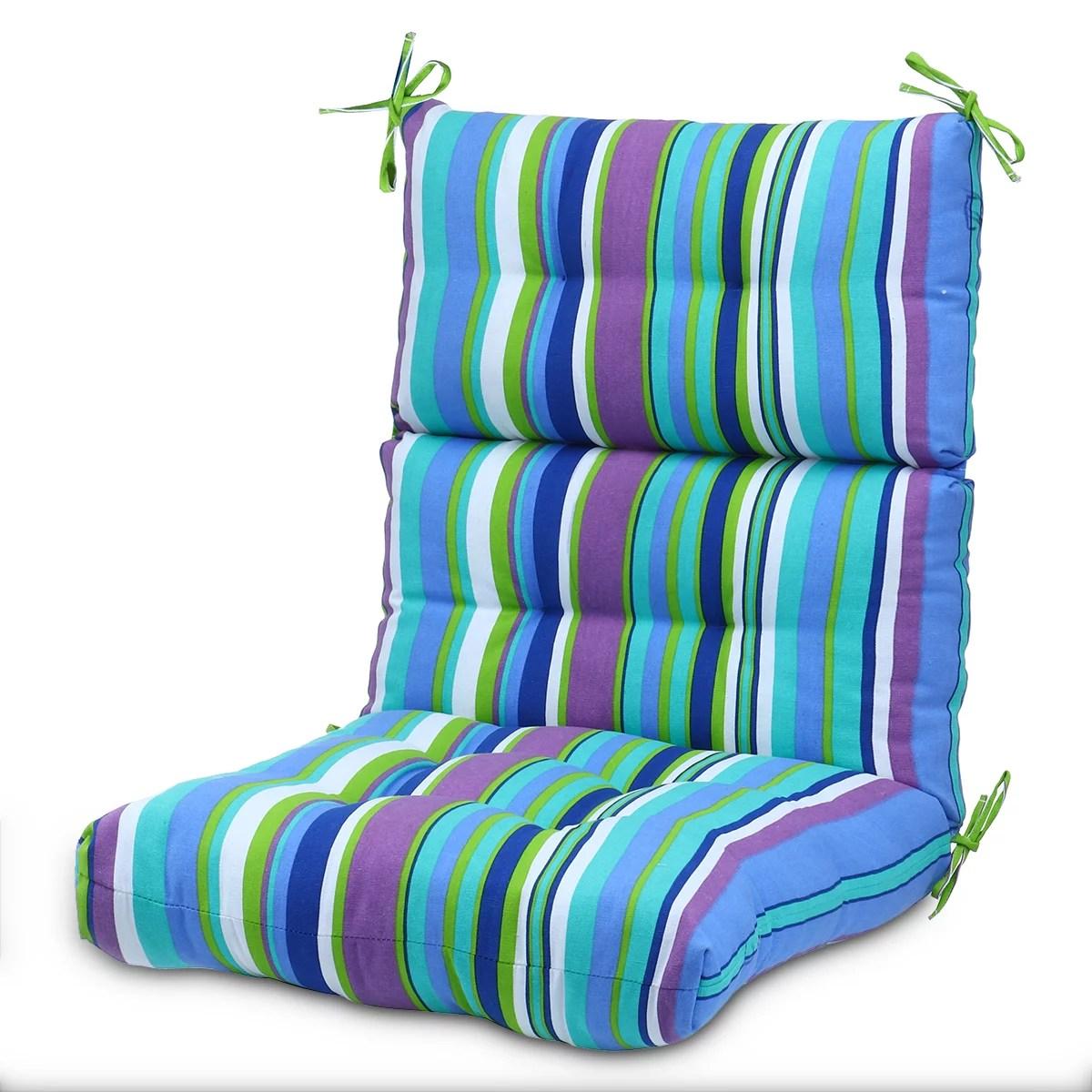 romhouse 44x21 inch solid polyester chair cushion outdoor high back high rebound foam rocking chair cushions patio garden decor multi pattern
