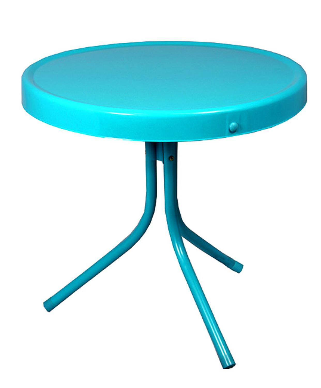 20 retro bleu turquoise metal tulipe d exterieur table d appoint