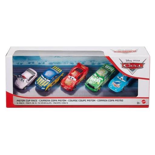 disney pixar cars piston cup race 5 pack toy racers