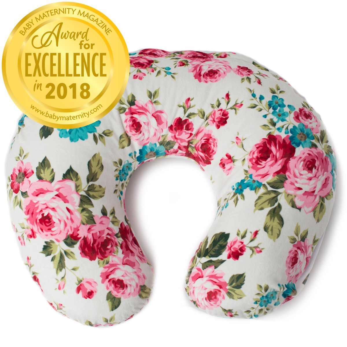 boppy original nursing pillow and positioner cotton blend midnight garden