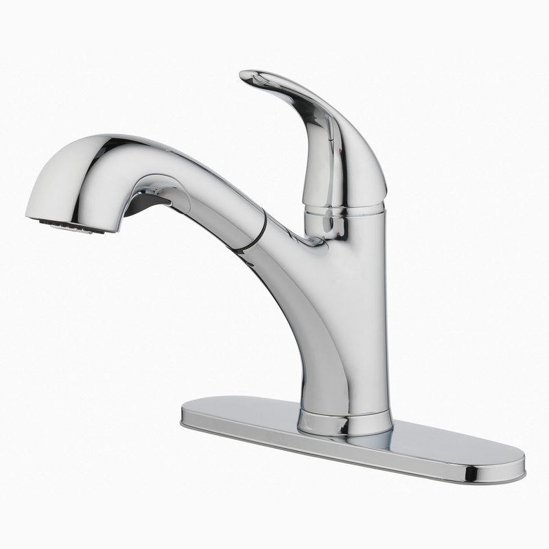 oakbrook pacifica one handle kitchen faucet with pullout sprayer