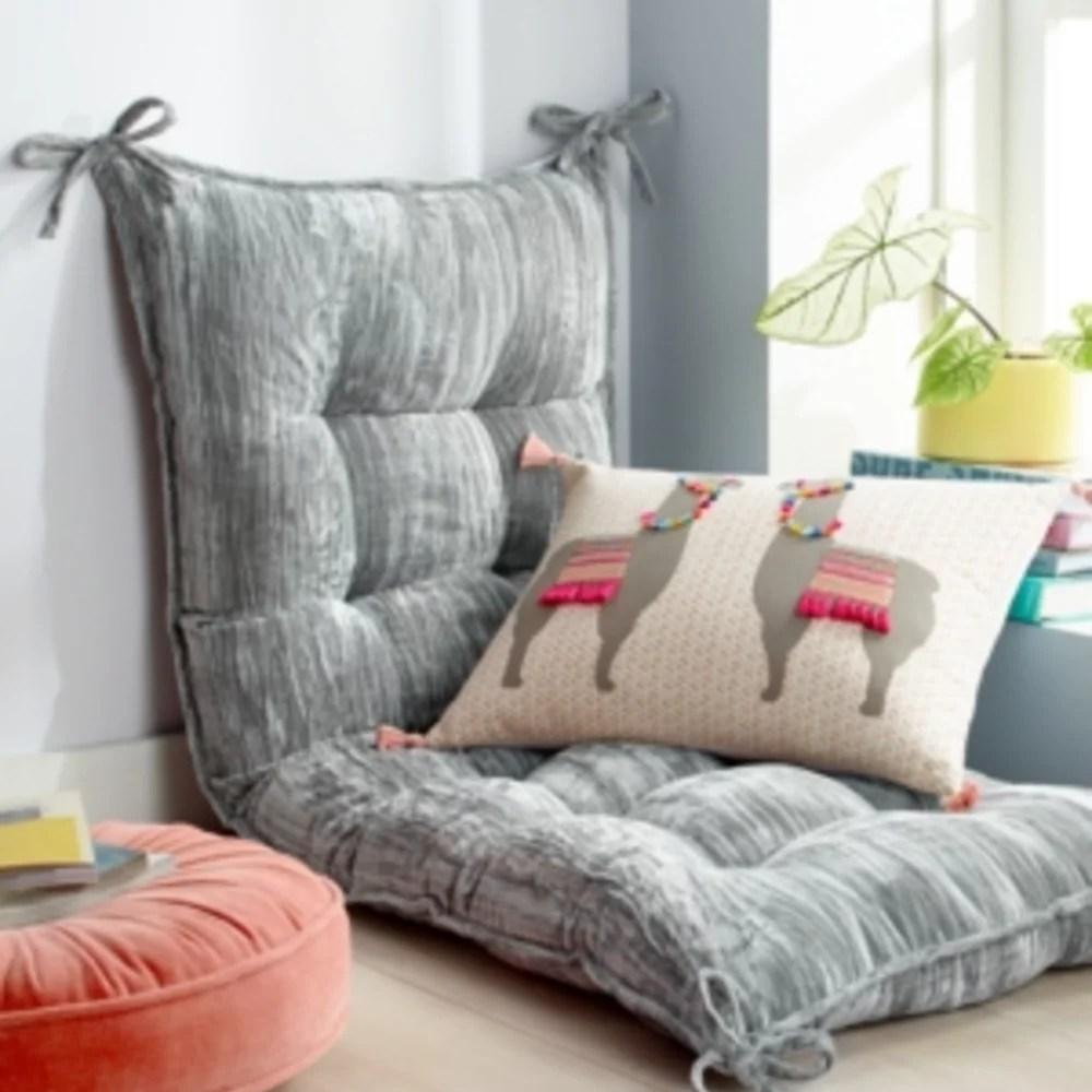 martha stewart collection whim full queen 21 inches x 56 inches velvet headboard pillow grey