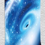 Constellation Tapestry Supermassive Black Hole At The Milky Way Galactic Center Astral Motion Wall Hanging For Bedroom Living Room Dorm Decor 40w X 60l Inches Aqua Blue White By Ambesonne Walmart Com