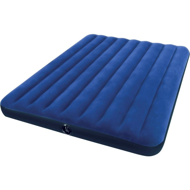 Intex Twin 16 5 Raised Pillow Rest Airbed Mattress With Built In Pump